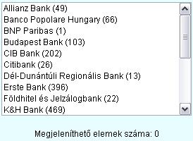 Válassza ki, hogy mely bankok vagy takarékszövetkezet bankautomatáit/ATM/bankomat-jait kívánja megjeleníteni a térképen!